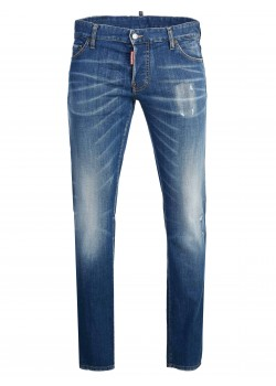 Dsquared slim fit jeans bleu